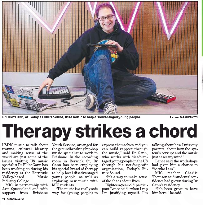 Artist In Resident - Dr Elliot Gann, Today's Future Sounds (USA) (City North News, August 2015)